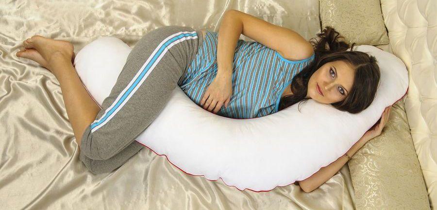 Подушка для беременных с шариками
