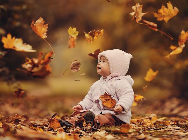 Картинки по запросу ребёнок  с осенними листями