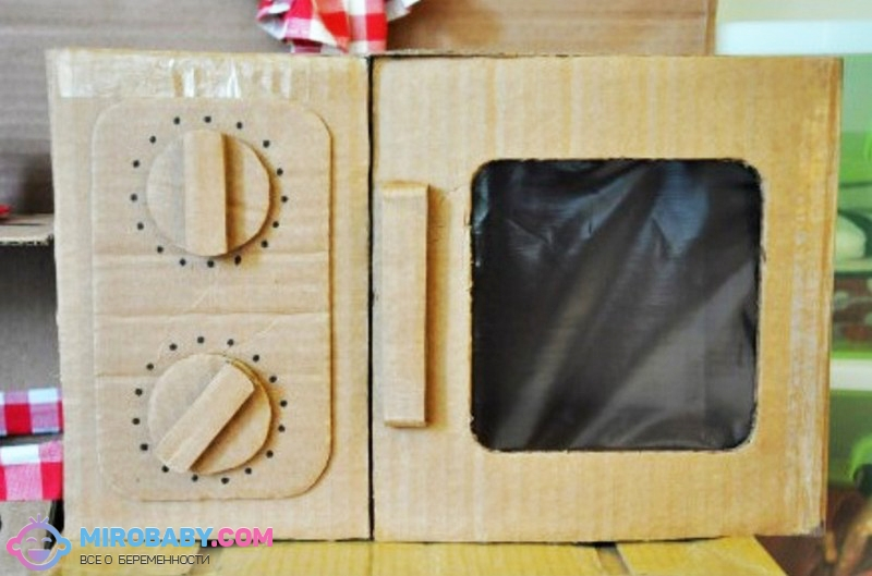 Кухня для детей из картона