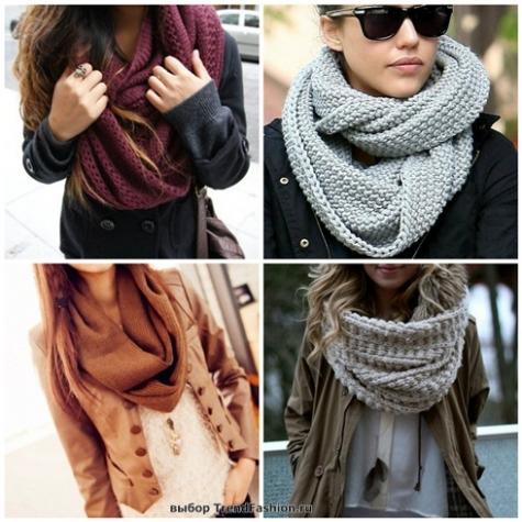 Как связать шарф для куртки