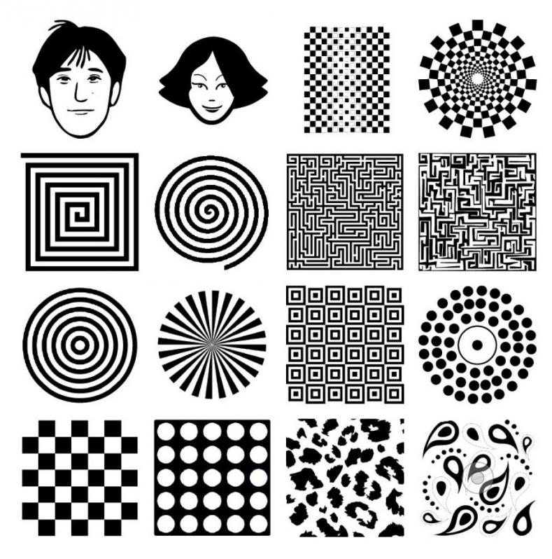 Черно-белые картинки для развития ребенка