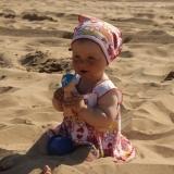 Первый раз на пляже.