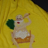 вышивка на махеровом полотенце