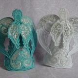ангелы елочные подвески или макушки