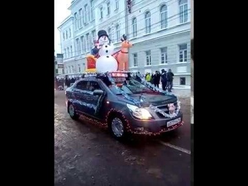 Парад Дед Морозов в Рыбинске